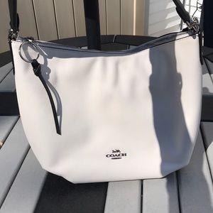 Coach Black and white hobo spring bag